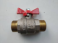 "Кран  шаровый  VALTEC 3/4"" штуцер-штуцер."