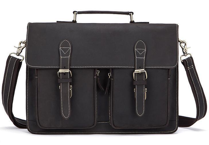 Мужской коричневый кожаный портфель BEXHILL BX1061B