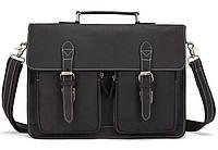 Мужской коричневый кожаный портфель BEXHILL BX1061B, фото 1