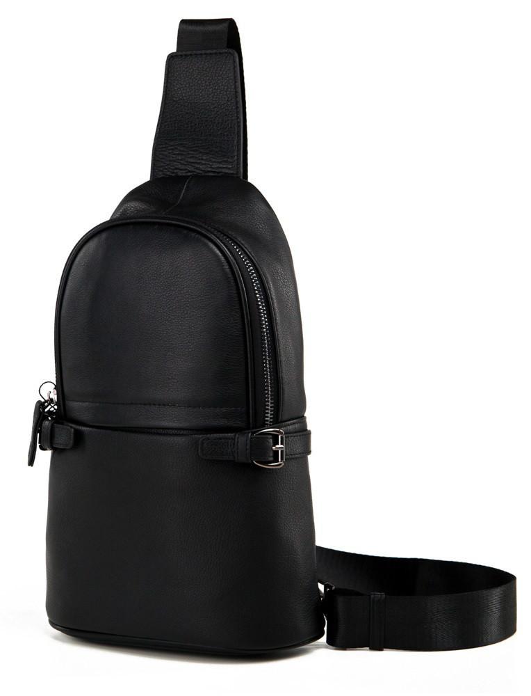 1bc0e6aba835 Черная мужская кожаная сумка-рюкзак Tiding Bag M856-1A: продажа ...