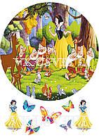 Съедобная печать на вафельной бумаге Принцессы (9)