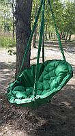 Подвесное кресло-качель, гамак зеленого цвета