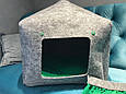 Домик лежанка со съемной подушкой для кота, собаки, фото 7
