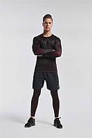 Мужская компрессионная одежда для тренировок. 3в1 Рашгард.Спортивные шорты.спортивные легинсы