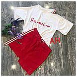 Женский стильный костюм: футболка и джинсовая юбка (2 цвета), фото 6
