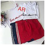 Женский стильный костюм: футболка и джинсовая юбка (2 цвета), фото 7