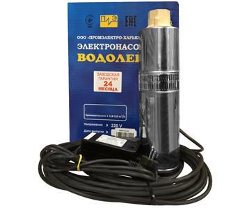 Глубинный насос Водолей БЦПЭУ 0,32-25У с внутренним кабелем