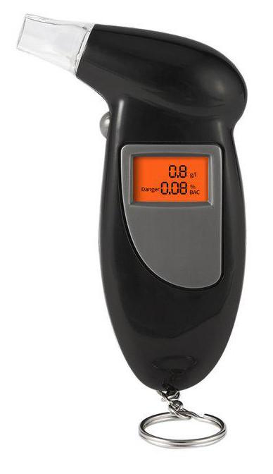 Карманный цифровой алкотестер с LCD 80025 (0923)