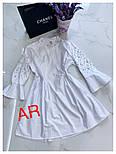 Женское стильное платье-туника с жемчугом (в расцветках), фото 3