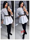 Женское стильное платье-туника с жемчугом (в расцветках), фото 5