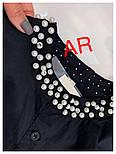 Женское стильное платье-туника с жемчугом (в расцветках), фото 4