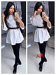 Женское стильное платье-туника с жемчугом (в расцветках), фото 9