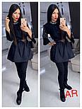 Женское стильное платье-туника с жемчугом (в расцветках), фото 8