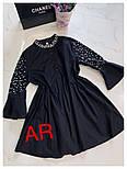 Женское стильное платье-туника с жемчугом (в расцветках), фото 10