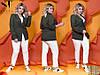 Элегантный брючный костюм с пиджаком на одной пуговице с 42 по 52 размер