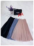 Женские фатиновая юбка-плиссе с пайетками (в расцветках), фото 3