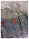 Женские фатиновая юбка-плиссе с пайетками (в расцветках), фото 6