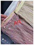 Женские фатиновая юбка-плиссе с пайетками (в расцветках), фото 7