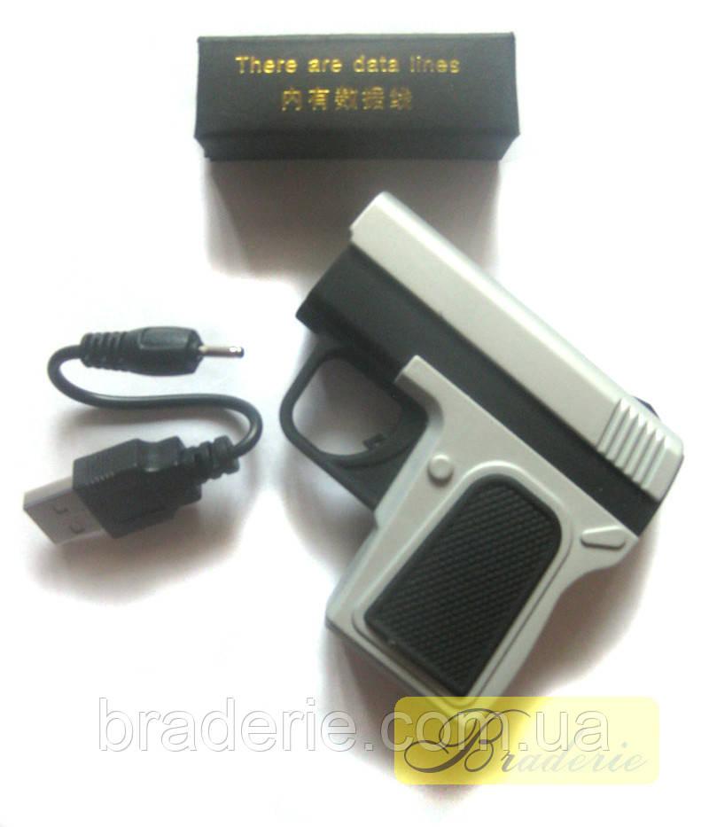 Электроимпульсная USB зажигалка пистолет 4367