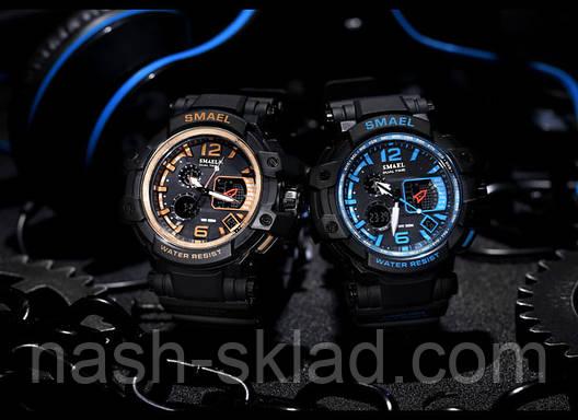Мужские спортивные часы водостойкие Smael 1509, фото 2