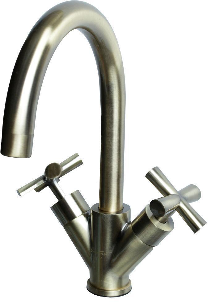 Смеситель  БРОНЗОВЫЙ кухонный Well АМ 915-2C