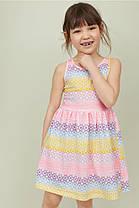 Летнее трикотажное платье из хлопка для девочки 2-4, 4-6, 6-8 лет.  Узор радужный Бренд: H&M