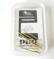 Невидимки для волос Tico  60 мм золотистые