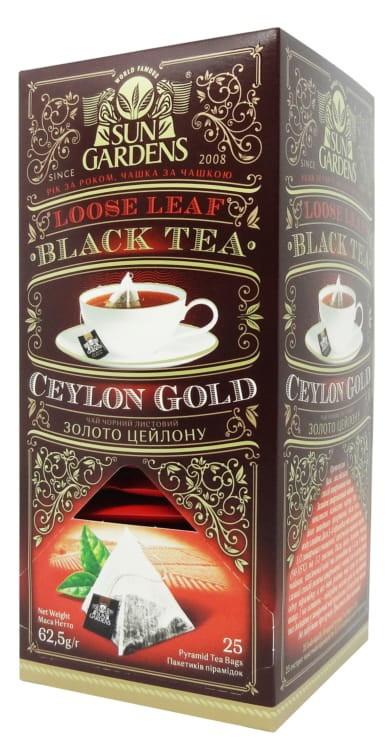 Чай черный Sun Gardens Золото Цейлона 25 пир.