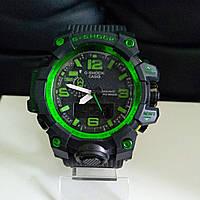 Спортивные наручные часы GWG-1000 Black Green Касио реплика