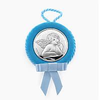 Икона серебряная Ангелочек для мальчика