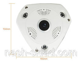 Панорамная Wi-Fi IP камера 360° (рыбий глаз), фото 3