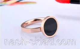 Кольцо розовое золото с фианитом размер 7, фото 2
