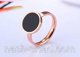 Кольцо розовое золото с фианитом размер 7, фото 3