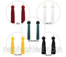 Женские длинные серьги-кисти Saint Laurent, фото 2