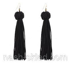 Женские длинные серьги-кисти Saint Laurent, фото 3