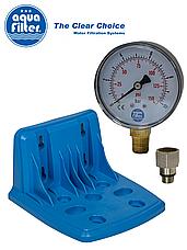 """Корпус фильтра для холодной воды Big Blue 20"""" AquaFilter FH20B1-B-WB 1"""" синяя колба комплект, фото 3"""
