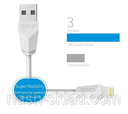 Кабель USB GOLF GOLF GC-27i DIAMOND LIGHTNING , фото 3