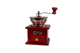 Кофемолка ручная Empire - 185 мм, с деревянным ящиком