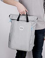 Рюкзак городской портфель сумка Under Armour Андер Армор водоотталкивающий 3 цвета реплика серый