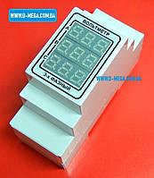 Вольтметр цифровой переменного тока трехфазный на DIN рейку