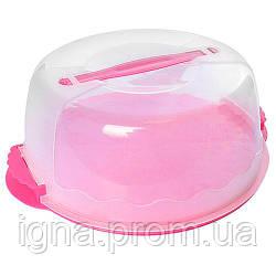 Тортовница пластик круг с крышкой N02080 (48шт)