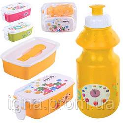 Набор для ланча детский (бокс+поилка) 20*17см J00025/R82652/R17582 (72шт)
