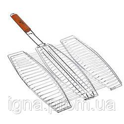 Решетка-гриль для рыбы тройная 65*40*36см MH-0089 (24шт)