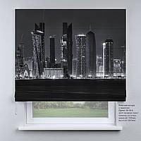 Римская штора с фотопечатью Города Black&white