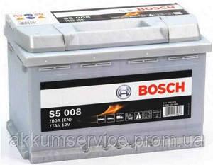 Акумулятор автомобільний Bosch S5 Silver plus 77AH R+ 780А євро
