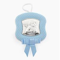 Икона серебряная Ангелочек для мальчика музыкальная