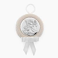 Икона серебряная Ангелочки для детей