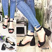 Женские кожаные босоножки,на каблуке, фото 1