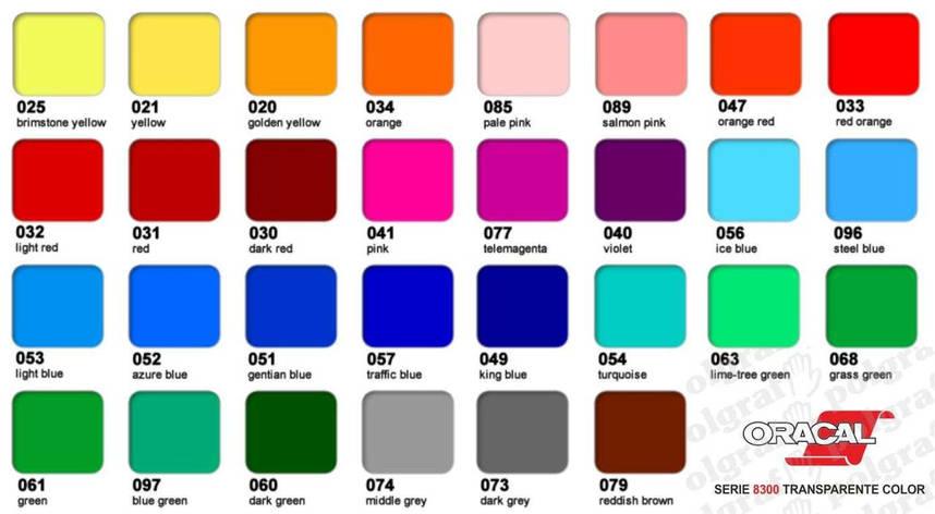 Плівка  с/к ORACAL 8300 серія вітражна 30 кольорів, рул.1х50м, фото 2