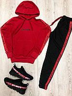 Модный костюм в стиле Off White красный